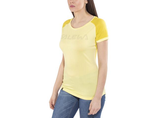 SALEWA Pedroc Delta Dry T-shirt Femme, limelight/5736